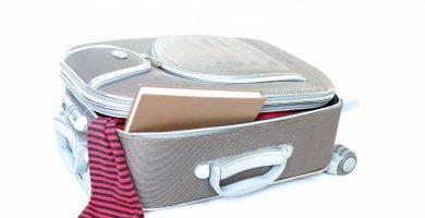 Hacer maleta viaje cabina
