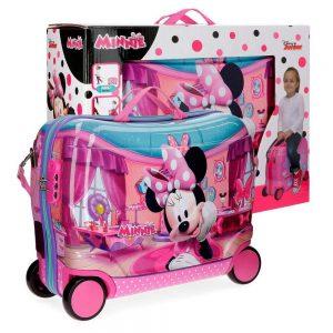 Maleta Infantil Pequeña Disney Minnie Smile Rosa