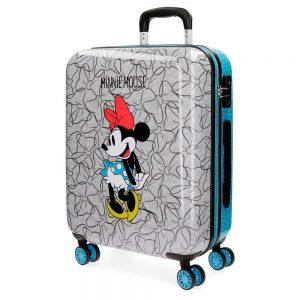 Equipaje de Mano Minnie Disney Gris y Azul