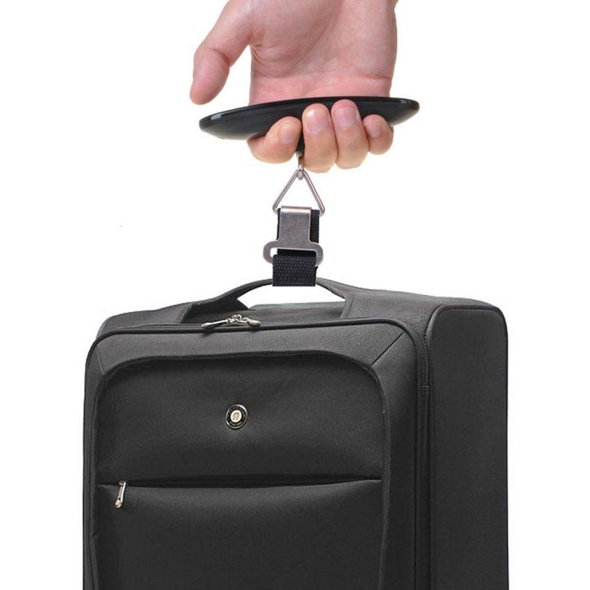 Báscula Digital LCD para Pesar Maletas de Viaje y Equipaje de Mano