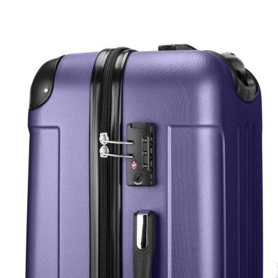 Maleta de Viaje o Equipaje Rígida con Cierre de Seguridad o Candado Tsa Integrado, accesorio indispensable para viajar con seguridad a los EEUU.