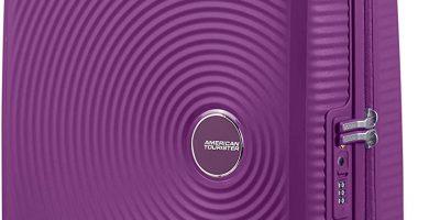 American Tourister Soundbox - Spinner Small Expandable Equipaje de Mano, 55 cm, 41 Liters, Morado (Purple Orchid)