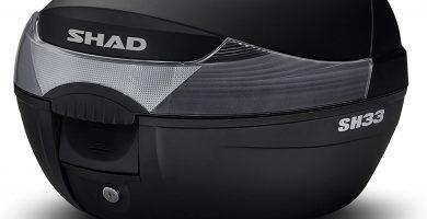Shad Baúl Moto Sh 33 Con capacidad para 1 Casco integral Parrilla y kit de tornillería incluidas Diseñado en Barcelona