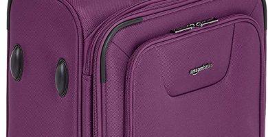 AmazonBasics - Maleta con ruedas de calidad superior, expandible, con lados blandos y cierre con candado TSA, 53 cm, Morado
