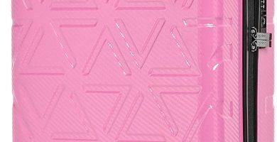 AmazonBasics - Maleta rígida «hardside» Pyramid, con ruedas - 55 cm, Rosa