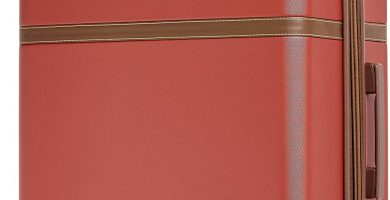AmazonBasics - Maleta rígida «hardside» Vienna, con ruedas - 78 cm, Rojo