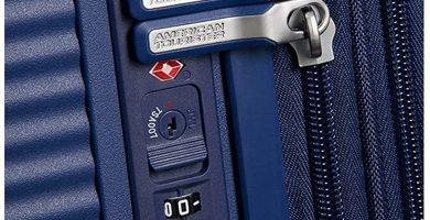 American Tourister - Maleta Trolley Rígida Soundbox Spinner Expandible, 67cm y 3,5 kgs. Cierre de Seguridad TSA. Varios colores a elegir.