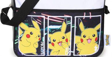 Bolso Tipo Bandolera Infantil Pokémon para Niños y Niñas con Pikachu. Mochila Pokemon con Correa Larga para Usar como Bandolera o Bolso