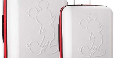 Disney Mickey Colored Juego de maletas Blanco 55-68 cms Rígida ABS Cierre TSA 115L 4 ruedas dobles Extensible Equipaje de Mano