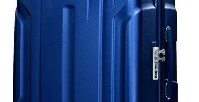 Eminent Maleta Grande X-Tec 76cm 102L Ultra Ligera con 4 Ruedas multidireccionales Policarbonato Rígido, Candado TSA & Mango telescópico Azul