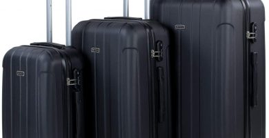 ITACA - Juego Maletas de Viaje rígidas 4 Ruedas Trolley 55-64-73 cm abs cómodas prácticas y Ligeras. Pequeña Cabina, Mediana y Grande