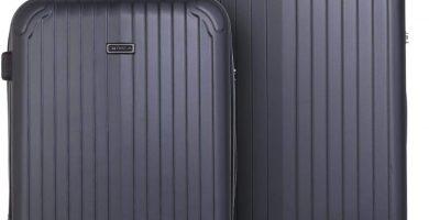 ITACA - Juego de Dos Maletas rígidas Mediana y Grande T71516, Color Antracita