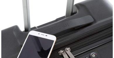 Imome Top Maleta Mediana Rígida Tipo Trolley Negra Cierre TSA 67x47x27 Expandible y Carga USB. 100% ABS Reforzado y Antiarañazos