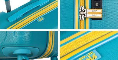 Lois - Maleta de Viaje Mediana 4 Ruedas Trolley. 66 cm rígida de abs. Dura práctica cómoda Ligera y Bonito diseño Marca. candado TSA.