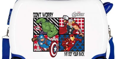 Marvel Los Vengadores All Avengers Maleta Infantil Multicolor 50x38x20 cms Rígida ABS Cierre combinación 34L 2,3Kgs 4 Ruedas