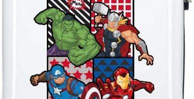 Marvel Los Vengadores All Avengers Maleta de cabina Multicolor 34x55x20 cms Rígida ABS Cierre combinación 32L 2,6Kgs 4 Ruedas dobles Equipaje de Mano