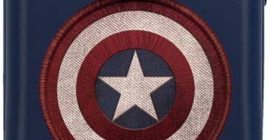 Marvel Los Vengadores Captain America Maleta de Cabina Azul 38x55x20 cms Rígida ABS Cierre combinación 34L 2,6Kgs 4 Ruedas