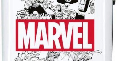 Marvel Los Vengadores Comic Maleta de cabina Blanco 40x55x20 cms Rígida ABS Cierre combinación 34L 2,6Kgs 4 Ruedas Dobles Equipaje de Mano