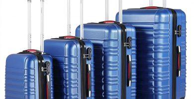 Monzana Juego de 4 Maletas rigidas Equipaje de Viaje Set de valijas de 34L 55L 84L 120L Conjunto para finde