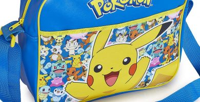 Pokémon Pikachu Bolso Bandolera Escolar Para Niños Que Brilla en La Oscuridad, Bolsa de Mensajero Cruzada Para Colegio Viajes Deporte, Regalos Originales Para Niños Niñas