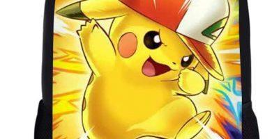Woisttop Anime Pokemon Mochila para niñas y niños, con Estampado de Bulbasaur Pikachu-5 44x28x13cm