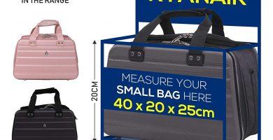 Aerolite 40x20x25 Tamaño Máximo Ryanair Bolsa Maleta Equipaje de Mano Rígida para Cabina 40x20x25 cm, Gris Oscuro o Negro.